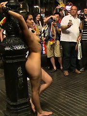 Spanish Hottie Naked and Fucked in Public