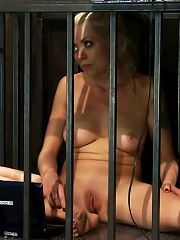 Hot Blond BDSM Slave get bound in hard metalBrutally fucked by James Dean & Isis Love