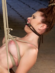 Melody Jordan Contorted in Severe Rope Bondage